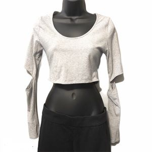 Tobi | Gray Crop Top
